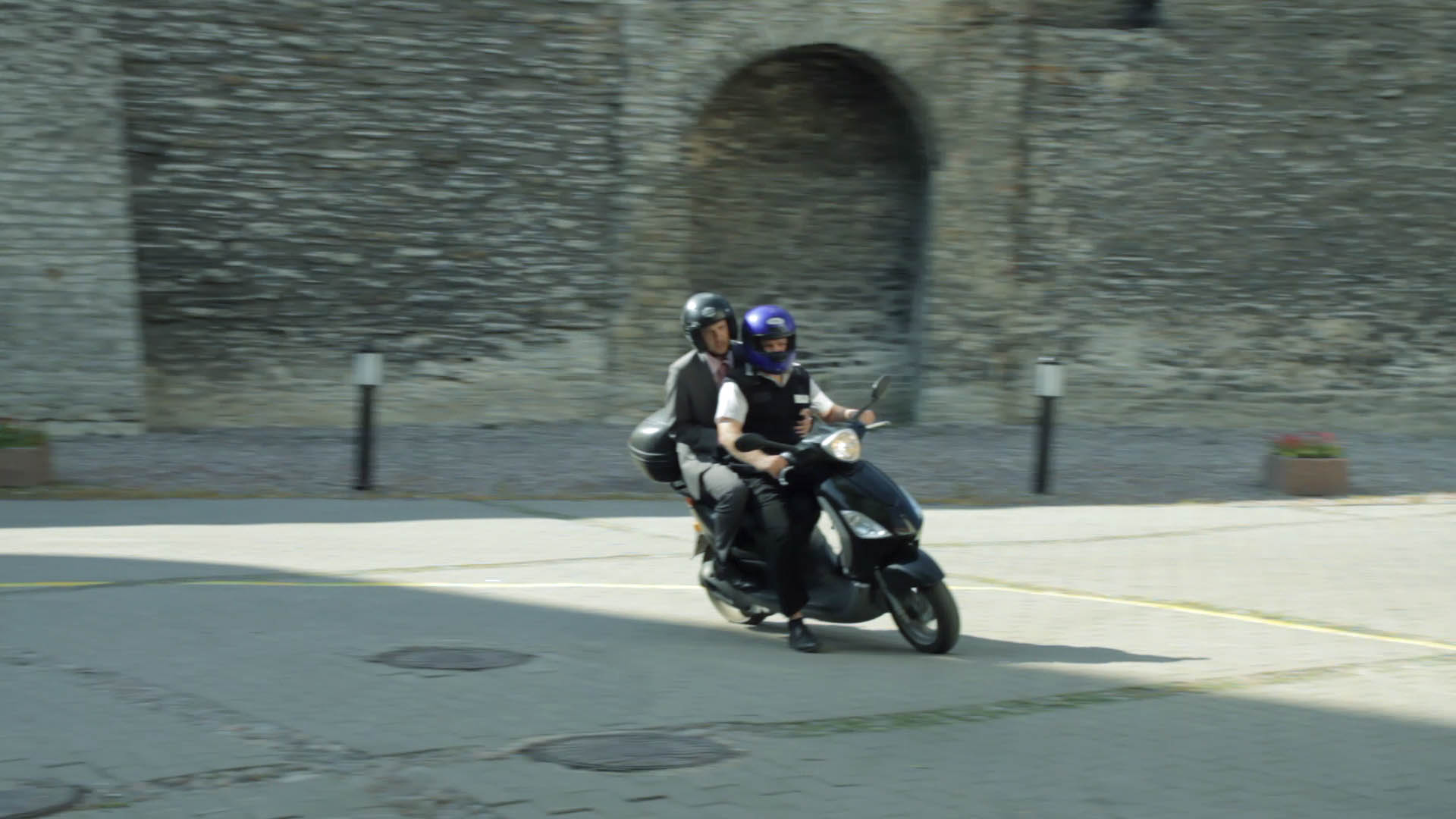 Kõiv ja Tagamets motorolleril